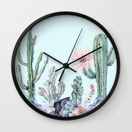 Desert Gemstone Oasis Turquoise Wall Clock