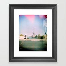 Paris Holga: Eiffel Tower Framed Art Print