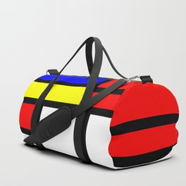 Cubism Painting Art Retro Pattern Duffle Bag