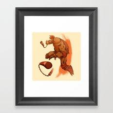Party Dude Framed Art Print