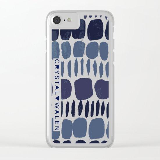 Painted Stones-Indigo Clear iPhone Case