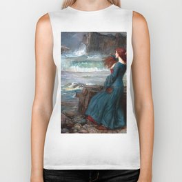 John William Waterhouse Miranda Biker Tank