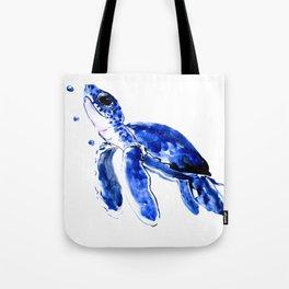 Blue Turtle, Cute turtle art, turtle design illustration Tote Bag