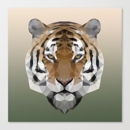 Polygon Tiger Canvas Print
