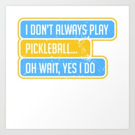 Pickleball Art Print