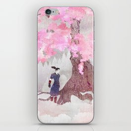 Tengami - Winter Cherry Tree (Portrait) iPhone Skin