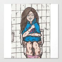 Nicki's bathroom experience V2 Canvas Print