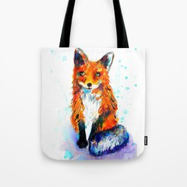 Little Fox in the Snow Tote Bag