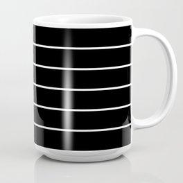 Black White Pinstripes Minimalist Coffee Mug