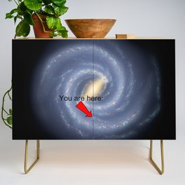 You are Here (improved version) Credenza