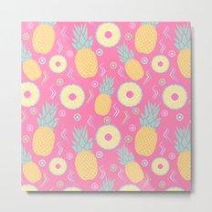 Pink Pinapple Metal Print