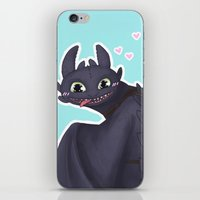 toothless iPhone & iPod Skins featuring Toothless by enerjax
