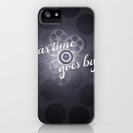 """""""As Time Goes By"""" - black and white vector artwork iPhone Case"""