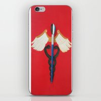 medical iPhone & iPod Skins featuring Medical Corps Snake by ArtSchool