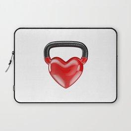 Kettlebell heart vinyl / 3D render of heavy heart shaped kettlebell Laptop Sleeve