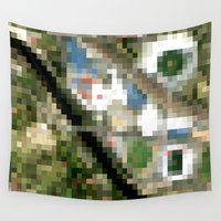 melbourne Wall Tapestries featuring Melbourne by Mark John Grant