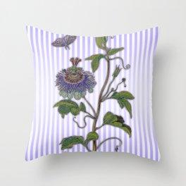 Merian: Passiflora Throw Pillow