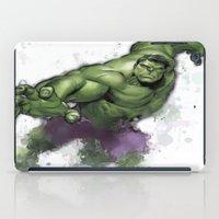hulk iPad Cases featuring Hulk  by Isaak_Rodriguez
