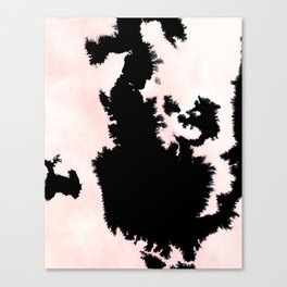 black, white and pink abstract 25 Canvas Print