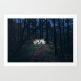 On loneliness. Art Print