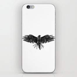 Black Bird White Sky iPhone Skin