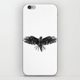 Black Bird White Sky iPhone Skin