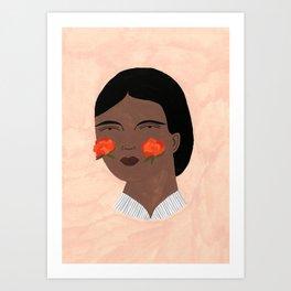Blooming, Blushing Art Print