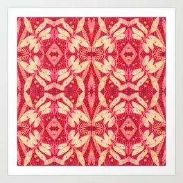 Red Kaleidoscope Art Print