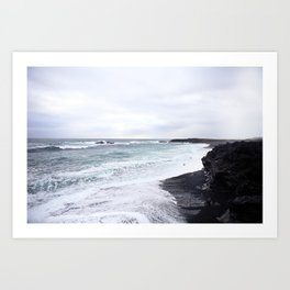 black beaches Art Print