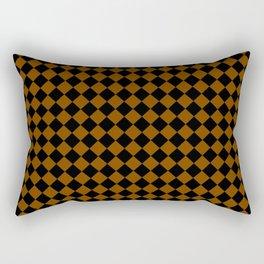 Black and Chocolate Brown Diamonds Rectangular Pillow