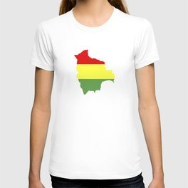 Bolivia flag map T-shirt