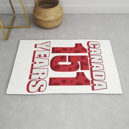 Canada 151 Years Anniversary - Canada Day Rug