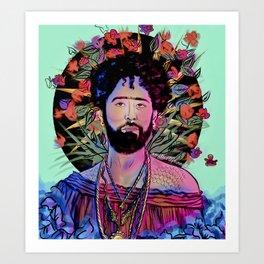 San Curly Art Print