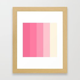 Stripe set - Retro Kitchen Pink Framed Art Print