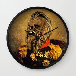 Portrait of Master Chewie Wall Clock