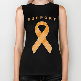 Orange Awareness Ribbon Biker Tank
