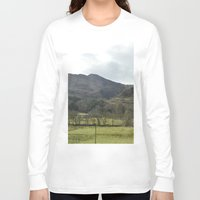scotland Long Sleeve T-shirts featuring Scotland Countryside by Ashley Callan