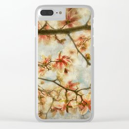 Magnolia Skys Clear iPhone Case