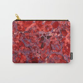 Marble Ruby Sapphire Violet Carry-All Pouch