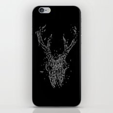 Wrecked skull iPhone & iPod Skin