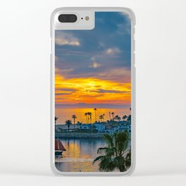 Sunset Sails at the Wedge Clear iPhone Case