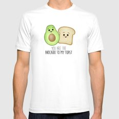 You Are The Avocado To My Toast White MEDIUM Mens Fitted Tee