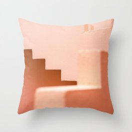Muralla Roja | Abstract Coral steps in the South of Spain | Travel photography Throw Pillow