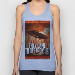 """They Came to Destroy Us"" - Retro, Sci-fi, Movie Poster Unisex Tank Top"