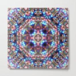 Crystal Cosmos Mandala Metal Print