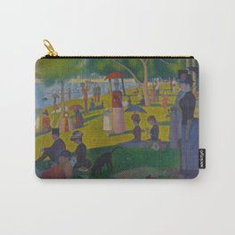 A Sunday Afternoon on the Island of La Grande Jatte Painting by Georges Seurat Pointillism Carry-All Pouch