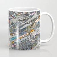 battlestar galactica Mugs featuring Battlestar by Guy Warley