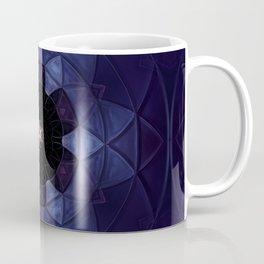 Dark Blue Flower Mosaic Coffee Mug