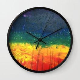 painted rainbow Wall Clock