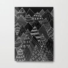 White line mounts Metal Print